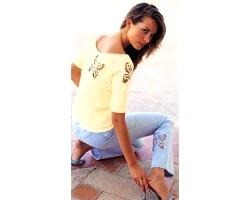Декоративна вишивка на джинсах