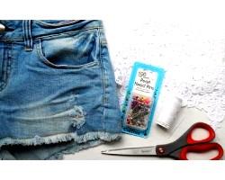Як обрізати джинси під шорти