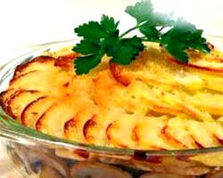 Картопляна запіканка з грибами і часником