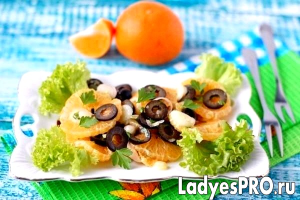 Луково-мандариновий салат