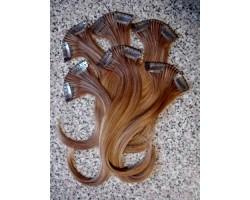 Накладні натуральні пасма волосся