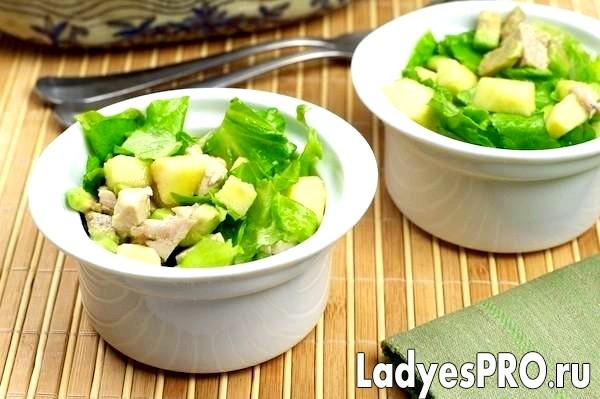 Салат з індички з авокадо