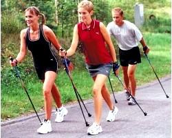 Скандинавська ходьба з палицями