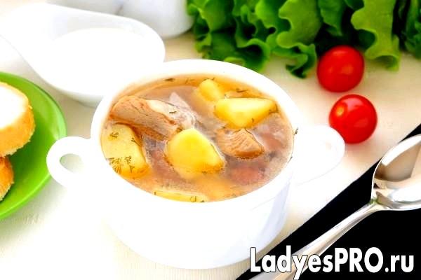 Суп з індички з квасолею