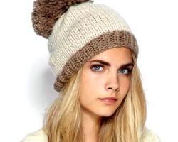 В'язані жіночі шапки зимові